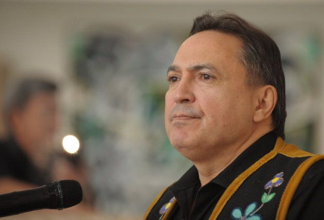 Assembly of First Nations National Chief Perry Bellegarde speaks at the First Nations University of Canada...