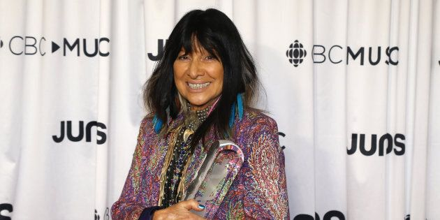 Buffy Sainte-Marie at the 2018 Juno Awards in
