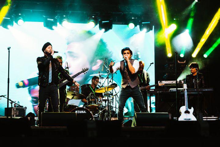 Summer concert at Brampton Town Square.