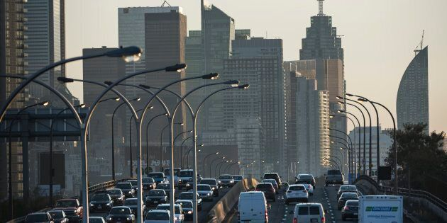 Morning traffic on Toronto's Gardiner Expressway. The Canadian economy contracted 0.1 per cent in January,...