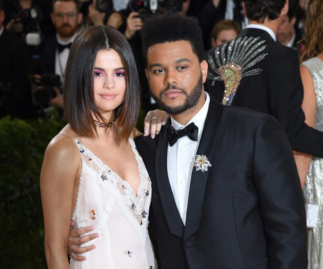 Selena Gomez and The Weeknd attend the 'Rei Kawakubo/Comme des Garcons: Art Of The In-Between' Costume...
