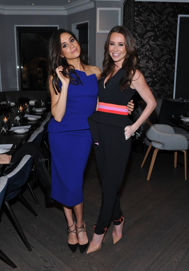 Meghan Markle and Jessica Mulroney attend an Equinox Yorkville Dinner on Nov. 23, 2015 in