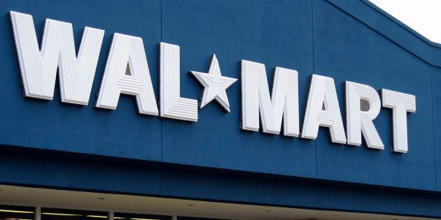 A Walmart store front is seen in Toronto on March 5,