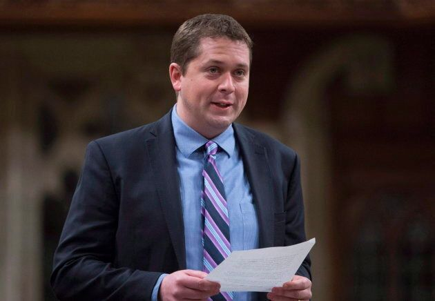 Conservative Leader Andrew Scheer rises in the House of Commons in Ottawa on May 6, 2016. Scheer says...