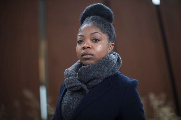 Aisha Addo, founder of DriveHer, a ride-hailing service for women, poses for a photo in Toronto on March...