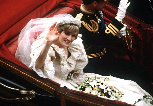 Princess Diana, shown here at her wedding to Prince Charles in July 1981, was a lover of white and light-coloured flowers.