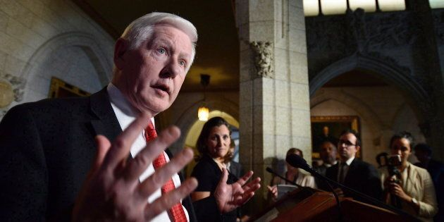 Canada's special envoy to the Rohingya crisis Bob Rae speaks during press conference in Ottawa on Oct....