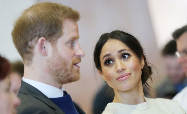 Prince Harry and Meghan Markle visit Catalyst Inc science park in Belfast on March 23, 2018.