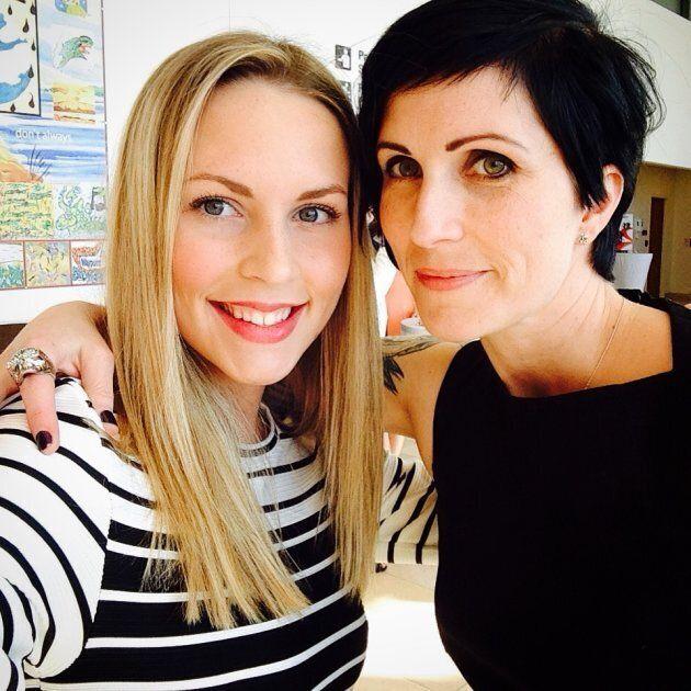 My daughter Caroline and I.