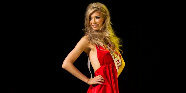 Transgender contestant Jenna Talackova takes part in Miss Universe Canada competition in Toronto, May 19, 2012.
