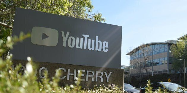 YouTube's headquarters is seen during an active shooter situation in San Bruno, California on April 03,