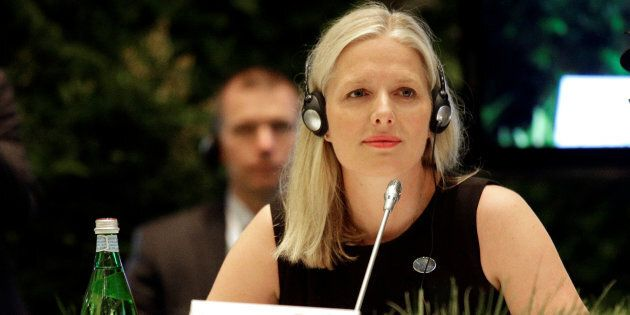 Environment Minister Catherine McKenna attends a summit of environment ministers from the G7 in Bologna,...