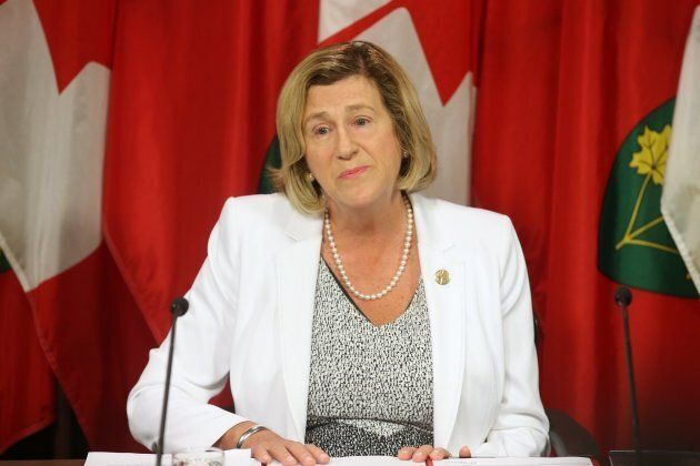 Helena Jaczek, now Minister of Health and Long-Term Care, at Queen's Park.
