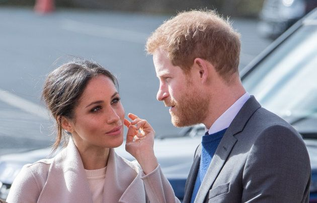 Prince Harry and Meghan Markle at the Eikon Exhibition Centre on March 23, 2018 in Lisburn, Northern Ireland.