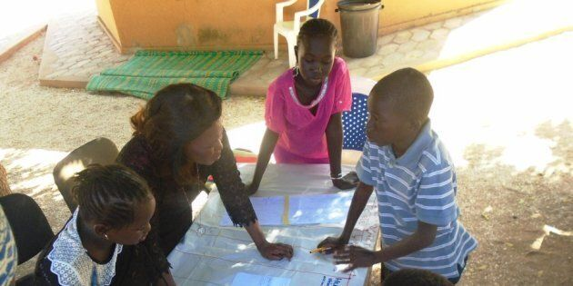 Children in Senegal collaborate to create an operational plan for the fight against