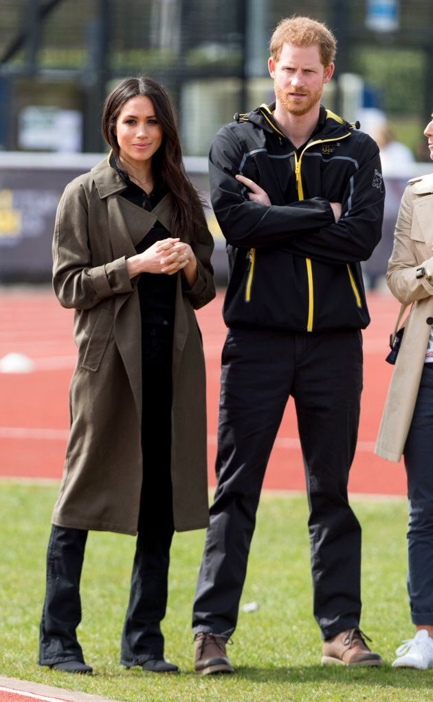 Prince Harry and Meghan Markle attend the U.K. team trials for the Invictus Games Sydney 2018 on April 6, 2018 in Bath, England.