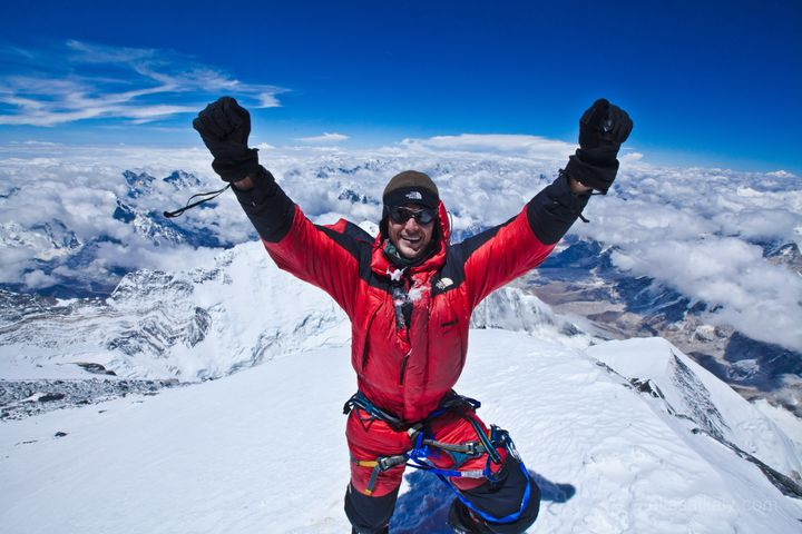 The author at the top of Mount Everest.