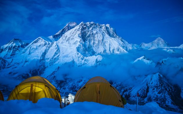 View of Mount Everest from the summit of Mount Lobuche