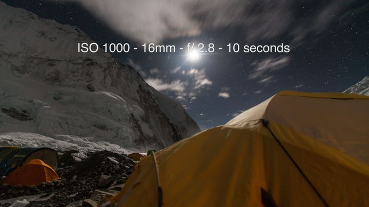Camp 2 on Mount Everest at 6,705 metres