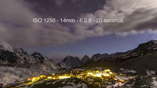 Mount Everest base camp at 5,334