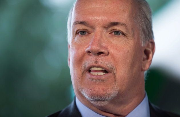 British Columbia Premier John Horgan speaks at an announcement in Coquitlam, B.C., on March 28,