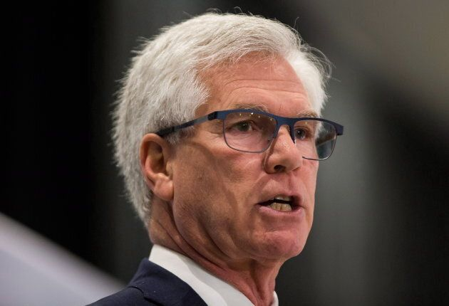 Minister of Natural Resources Jim Carr speaks during the Greater Vancouver Board of Trade's annual energy forum in Vancouver on Nov. 30, 2017.
