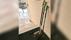Canadians Are Leaving Hockey Sticks Out To Honour