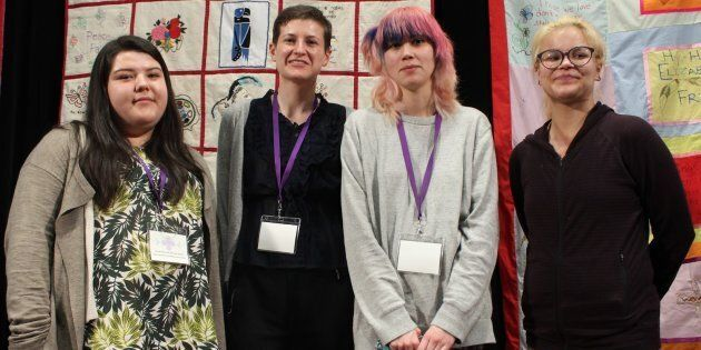 "Shae-Lynn Noskye, Erin Pavan, Cheylene Happi Ugh-na Moon and Fialka Osean Jack-Flesh speak about ""aging..."