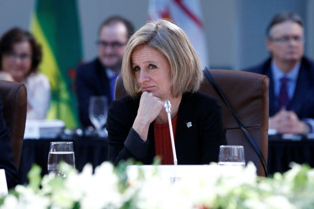 Alberta Premier Rachel Notley takes part in the First Ministers meeting in Ottawa on Dec. 9,