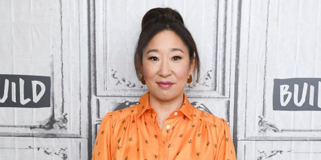 Sandra Oh visits Build Series to discuss 'Killing Eve' on April 5, 2018 in New York City.