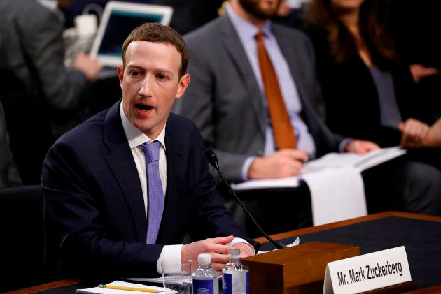Facebook CEO Mark Zuckerberg testifies before a joint Senate Judiciary and Commerce Committees hearing...