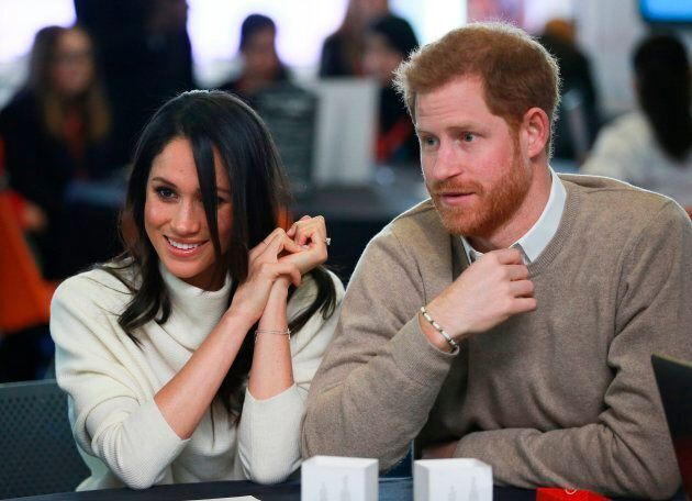Prince Harry and Meghan Markle attend an event in Birmingham to celebrate International Women's Day on March 8, 2018.