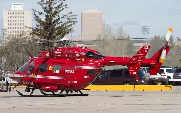 A Messerschmitt MBB BK-117 (BK-117 A-4D) air ambulance helicopter, belonging to STARS (Shock Trauma Air...