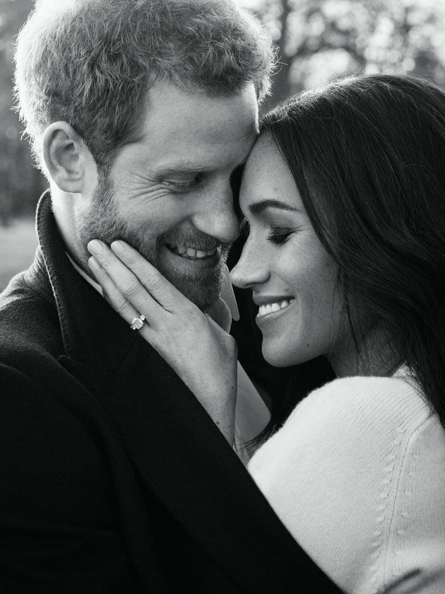 One of Prince Harry and Meghan Markle's official engagement photos.
