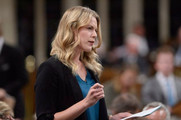 Conservative MP Rachael Harder speaks in the House of Commons on Parliament Hill in Ottawa on Sept.27,