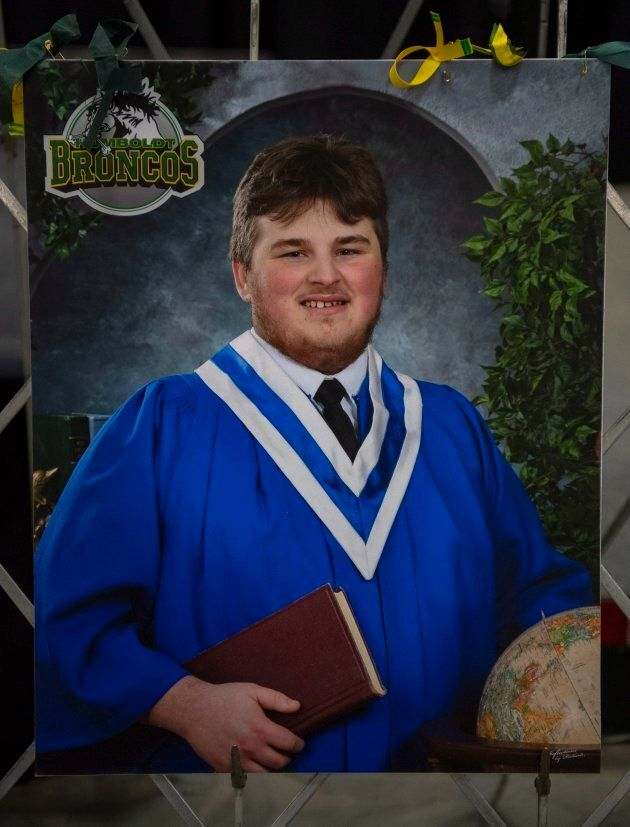 Bus crash victim Brody Hinz, 18, who compiled stats for the Humboldt Broncos and worked for local radio...