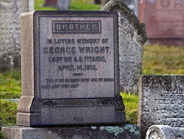 A memorial marker that honours George Wright, a local philanthropist and millionaire who died when the...