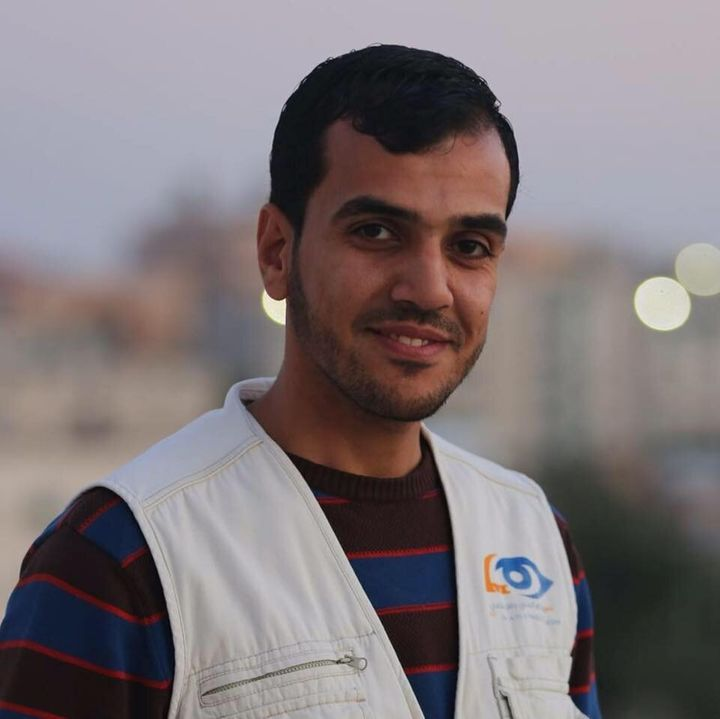 Yaser Murtaja, the journalist who was killed by the Israel Defense Forces.