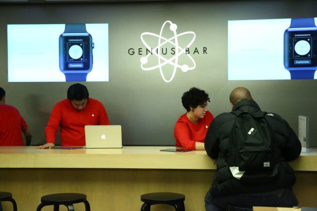 Customers must bring Apple devices to the company's Genius Bars for repairs. The company has come under fire for leaving customers with few other options.