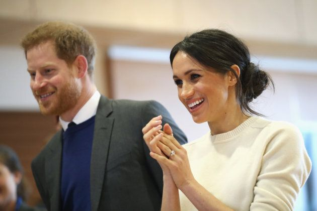 Prince Harry and Meghan Markle visit Catalyst Inc on March 23, 2018 in Belfast, Nothern Ireland.