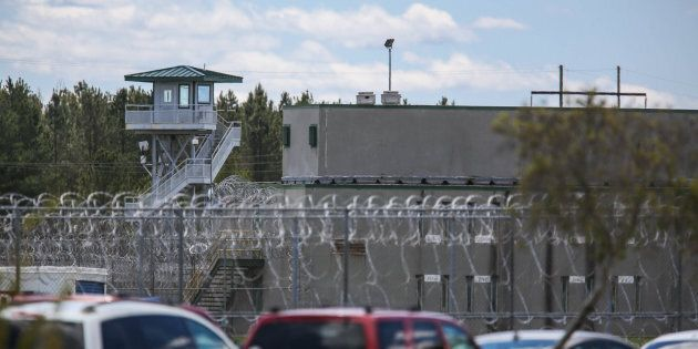 The Lee Correctional Institution, in Bishopville, S.C., remains on lockdown on April 16, 2018, after...