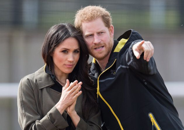 Prince Harry and Meghan Markle attend the U.K. Team Trials for the Invictus Games Sydney 2018 on April...