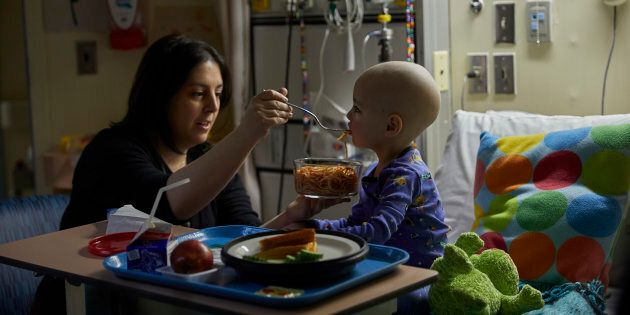 Heidi Czutrin with her son, Marky at The Hospital for Sick Children.