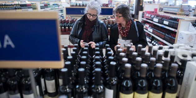 Shoppers at the Queens Quay LCBO in Toronto, Ont., Nov. 29 2017. The Supreme Court of Canada has affirmed...