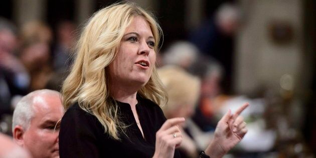Conservative MP Michelle Rempel stands during question period in the House of Commons on March 27,