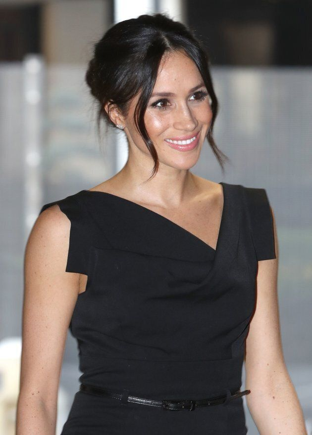 Meghan Markle, attends a reception for Women's Empowerment at the Royal Aeronautical Society on April...