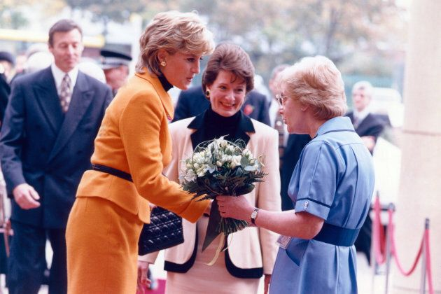 Princess Diana visits Merseyside in Liverpool on Nov. 7,