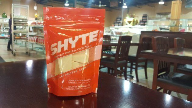 Kevin Richards says he's received orders for his Shyte Chocolate product from Scotland, Ireland, California...