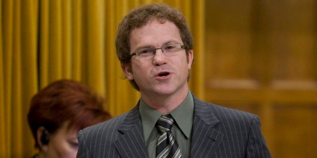 Liberal MP Scott Simms speaks in the House of Commons on Oct. 9,