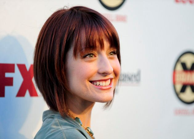 Actress Allison Mack arrives at the Hollywood FX Summer Comedies Party in Los Angeles, California on June 26, 2012.